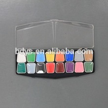 non toxic safe ingredient body art greasepaint palette in custom plastic box