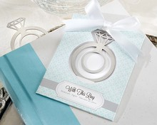 "New Arrival ""With This Ring"" Brushed-Metal Engagement Ring Metal Bookmark"