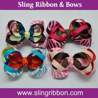Wholesale High Quality Zebra Printed Hair Bows