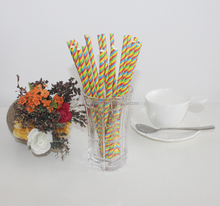 Double strip paper straw for 21st birthday decorations