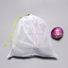 Wholesale cheap fresh vegetable packaging bag reusbale fruit mesh bag