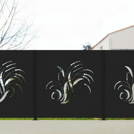 Exterior wall decoration metal fence