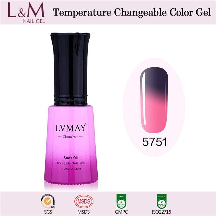 Lvmay Professional soak off Temperature Change Gel Polish