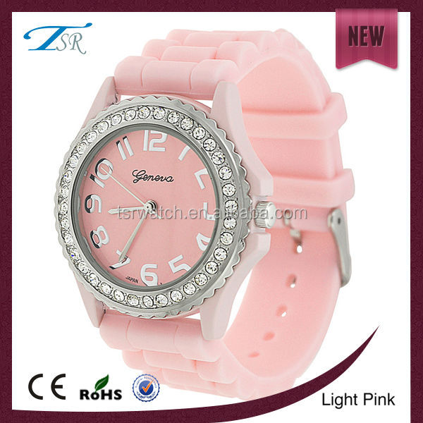wholesale fashion vogue designer watches for lady,stone geneva silicone watch