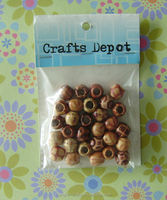 wholesale printed would wood beads folk beads
