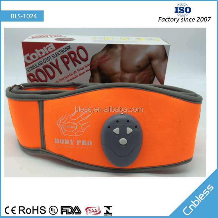 BLS1024 Electronic pulse muscle rebuilding waist slimming massage belt