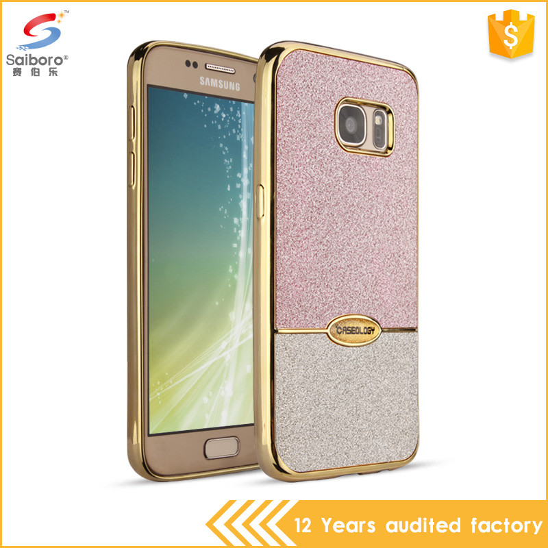 Oem welcome tpu electroplated edge bling case for samsung galaxy s7