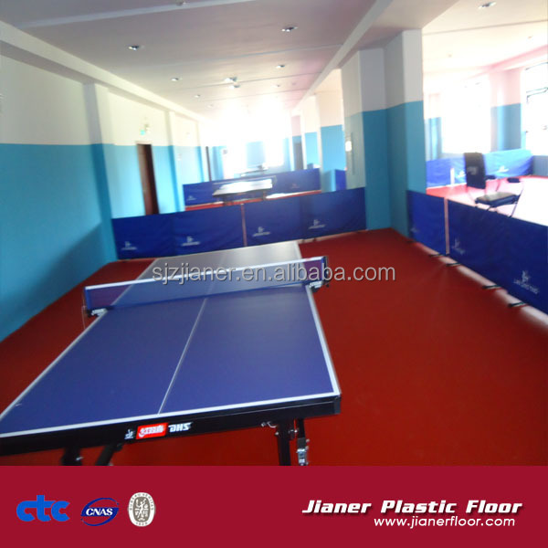 JR!!! Hot sale and high quality table tennis court indoor vinyl flooring