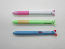 Mouse ear click 2 colors pen, cute cartoon top pen