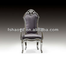 luxury hand shape wooden fabric arm chair,hotel chair