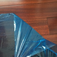 Blue high adhesion sticky floor protection film