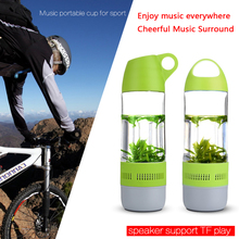 Waterproof mini portable wireless water bottle bluetooth speaker with FM Radio and TF Card slot