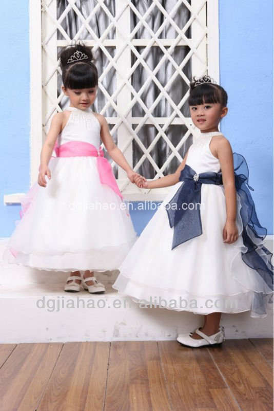 Flower girls wear wonderful design famous brand evening dress