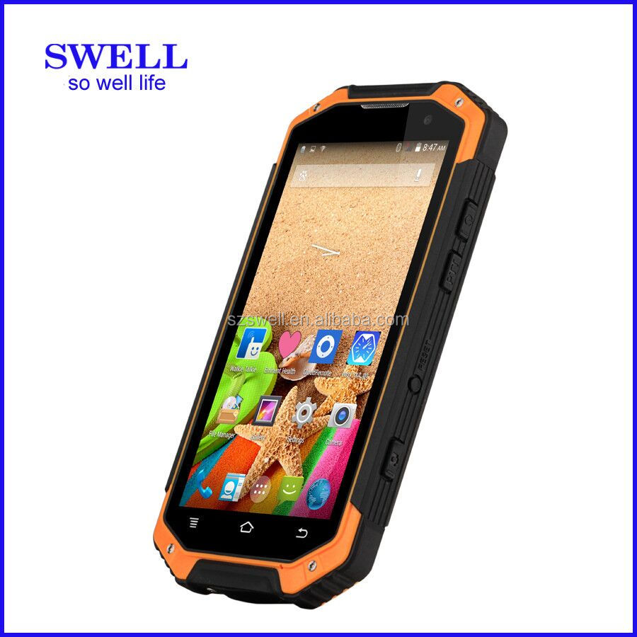 Octa core rugged cellphone handheld terminal handset F19 watch phone ip68