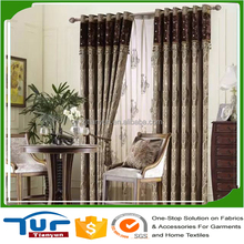 hot selling silk polyester fashion french blackout curtain fabric