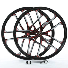 26inch <strong>10</strong> spoke alloy bike wheel integral magnesium alloy wheel cassette &amp; Rotary 7S 8S 9S 10S for mountain bike