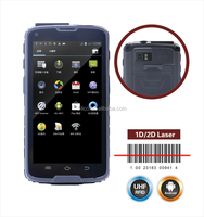 Android 5.1 rugged phone ip65 waterproof 13.56mhz RFID handheld