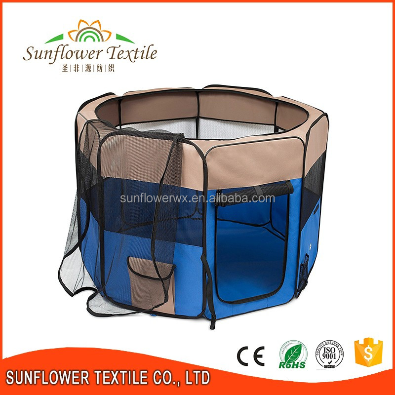Collapsible pet dog cage/large steel dog cage