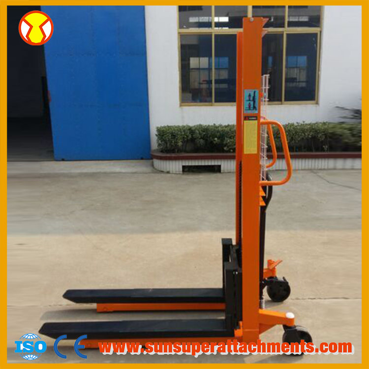 Bottom Price Hydraulic Hand Forklift Manual Pallet Stacker
