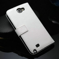 New cell phone accessory product of PU leather stand card holder original mobile phones case for samsung galaxy note 2 N7100
