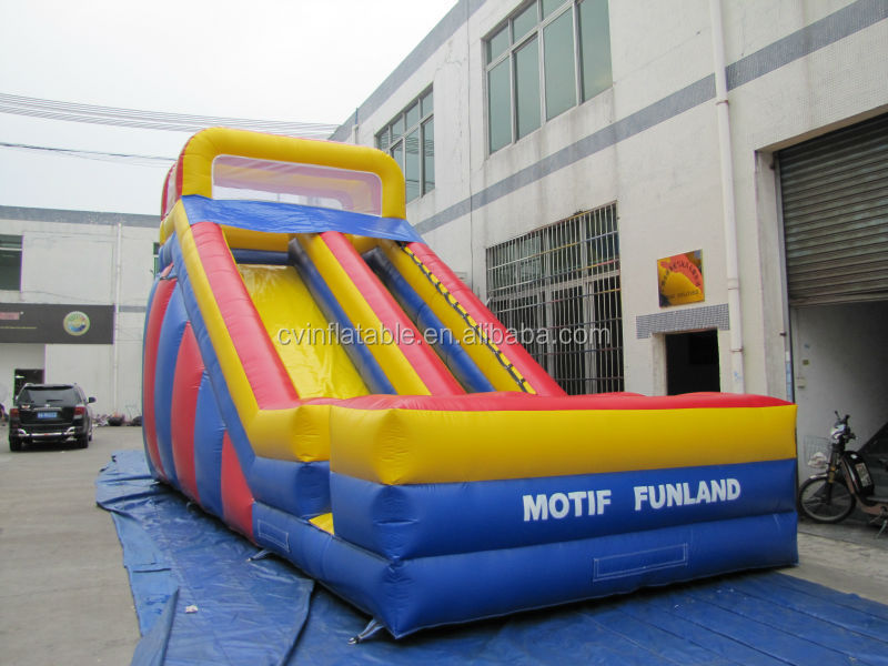 High quality inflatable water game/pvc inflatable slide for kids toys