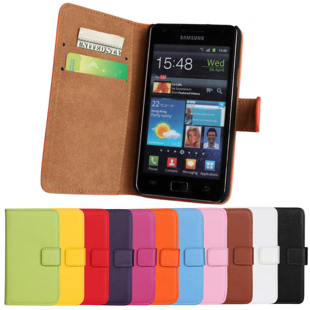 Simple Items for Samsung Galaxy s2 i9100, Hight Quality Products Wallet Pattern Leather Galaxy s2 Cases with Card Slot