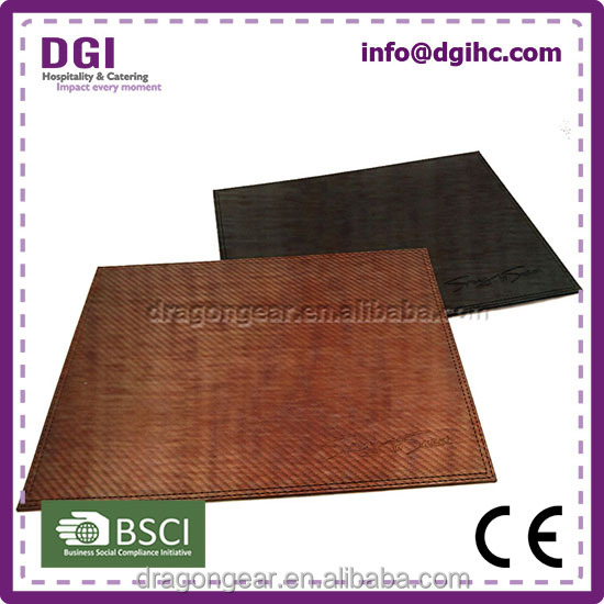 2017 new top smooth leather + oxford fabric upper style wedge shaped placemats for South American market
