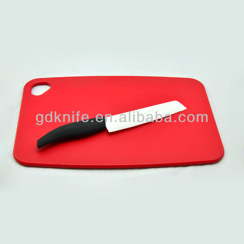 High quality rubber handle ceramic bread knife
