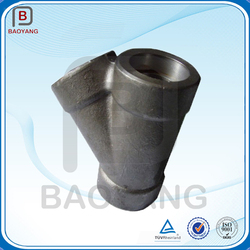 China manufacturer alloy stainless steel y pipe fitting