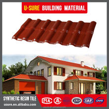 Green house 2 layers plastic shingle roof/shingle tiles/pvc resin roofing tiles