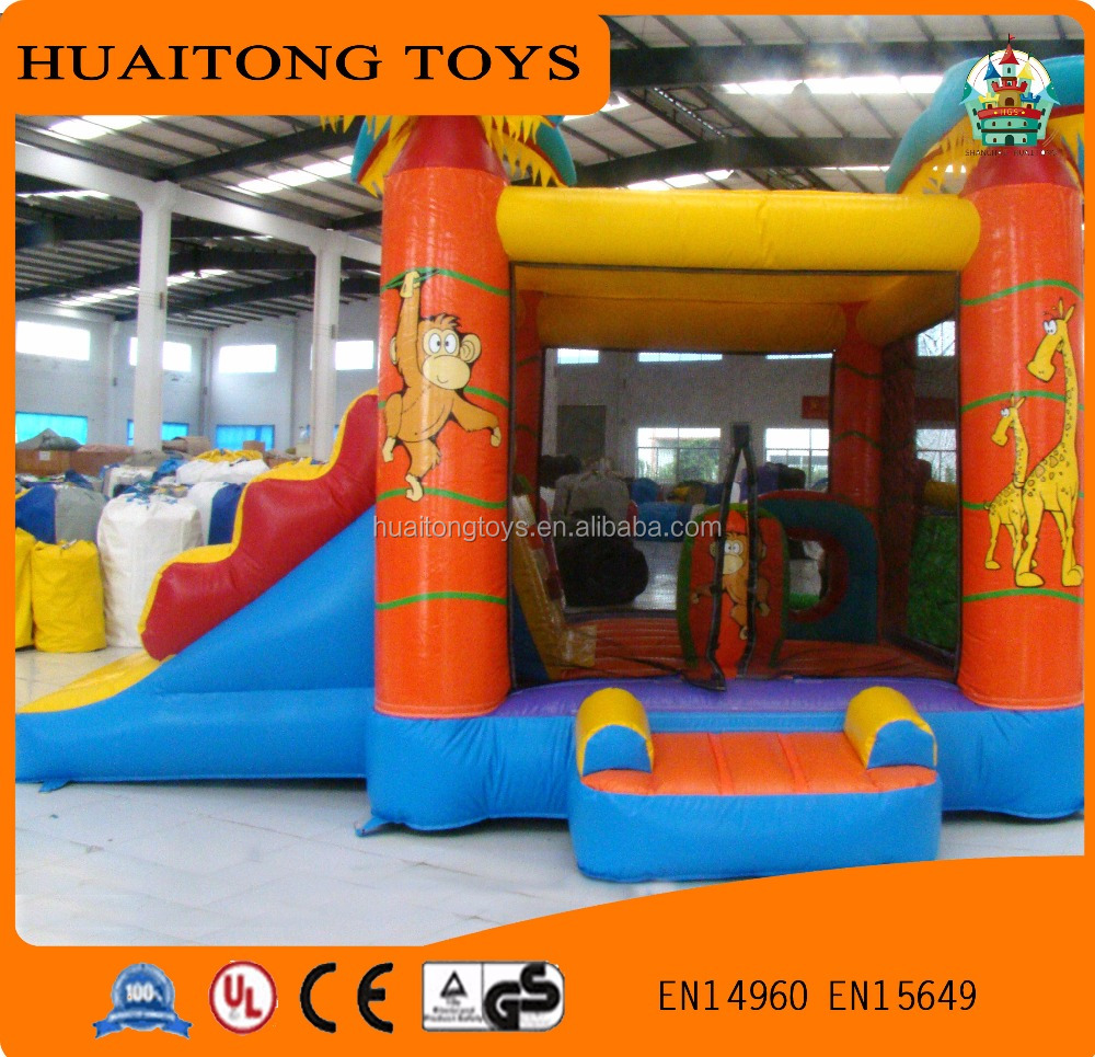 2016 Indoor Cartoon Type Inflatable Slide Como Bouncer Castle for Children