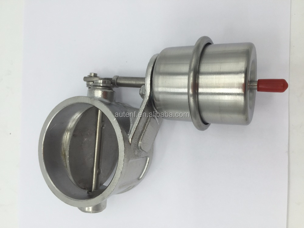 "Weldable Stainless Steel Exhaust Control Valve Set Vacuum Actuator 2 1/2"" 60mm Pipe Open Condition"