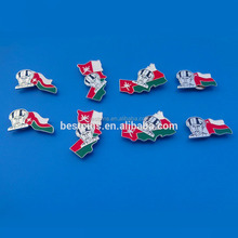 The Sultanate of Oman National Day King and flag joint-design magnet badges pins