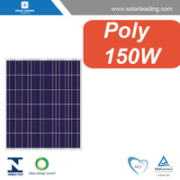 Hot sale 150w solar panel price per watt connect to PV inverter for Chile market