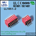 2.54mm dip switch standard right angle 12 positons