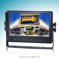 9'' quad monitor with built-in DVR