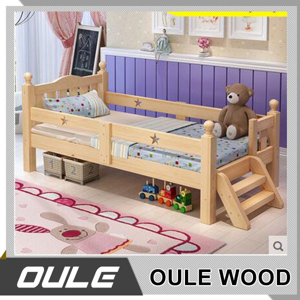 Wholesale Factory Price Simple Design Wooden Kids Storage Bed