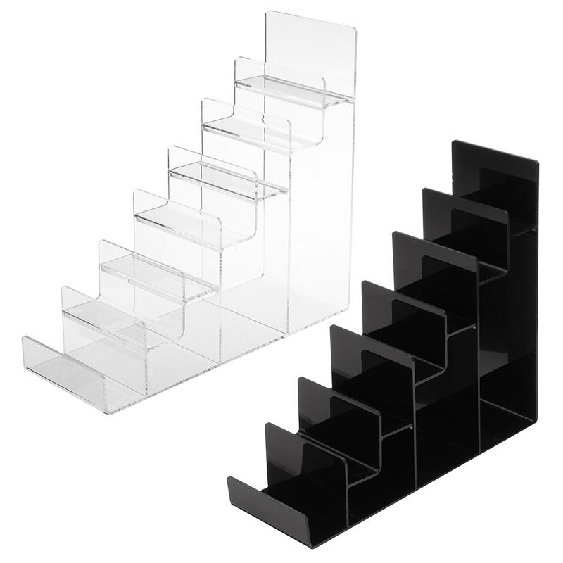 Custom acrylic wallet display stand/lucite purse holder, plexiglass cell phone display shelf