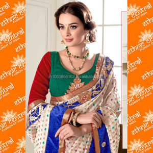 ETHNIC CENTRAL's indian bridal designer saree at wholesale price from wholesaler in kolkata india