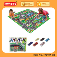 Kids Play Floor Mat Chess, Traffic Carpet with Car