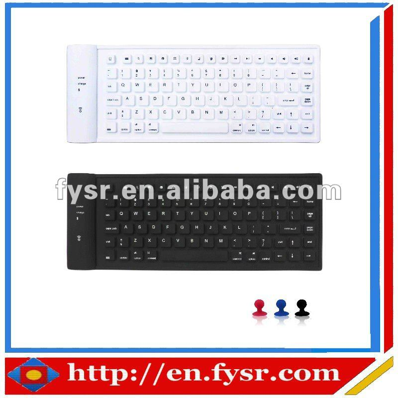 silicone wireless keyboard silicone tablet pc keyboard silicone soft keyboard