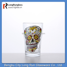 LongRun 120ml charming Eco-friendly shot glass cup&drinking wine glass&tableware glass cup with fancy decal