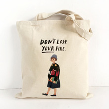 Hot sale Custom Wholesale organic printed cotton canvas tote bag