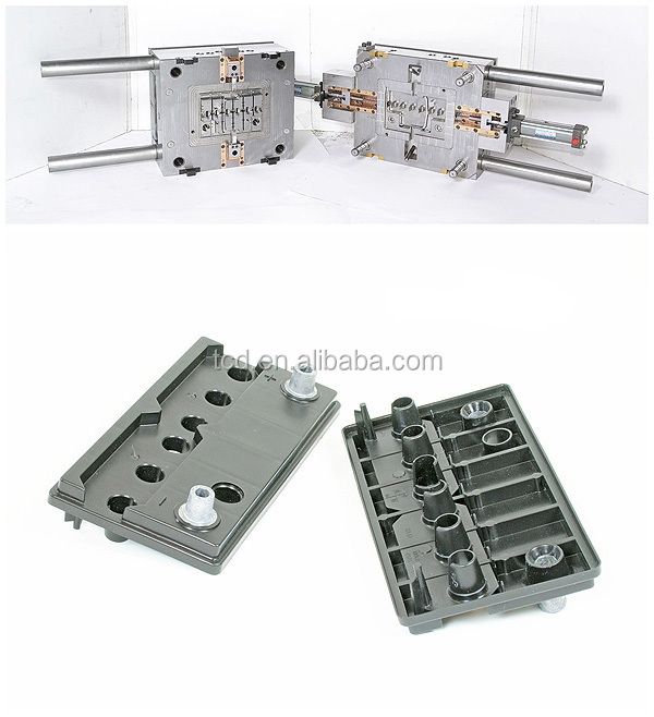 Plastic injection mold part for battery cover
