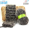 china fancy yarn manufacturer good sale 100% polyester fancy soft fur wool for hand knitting scarf yarn
