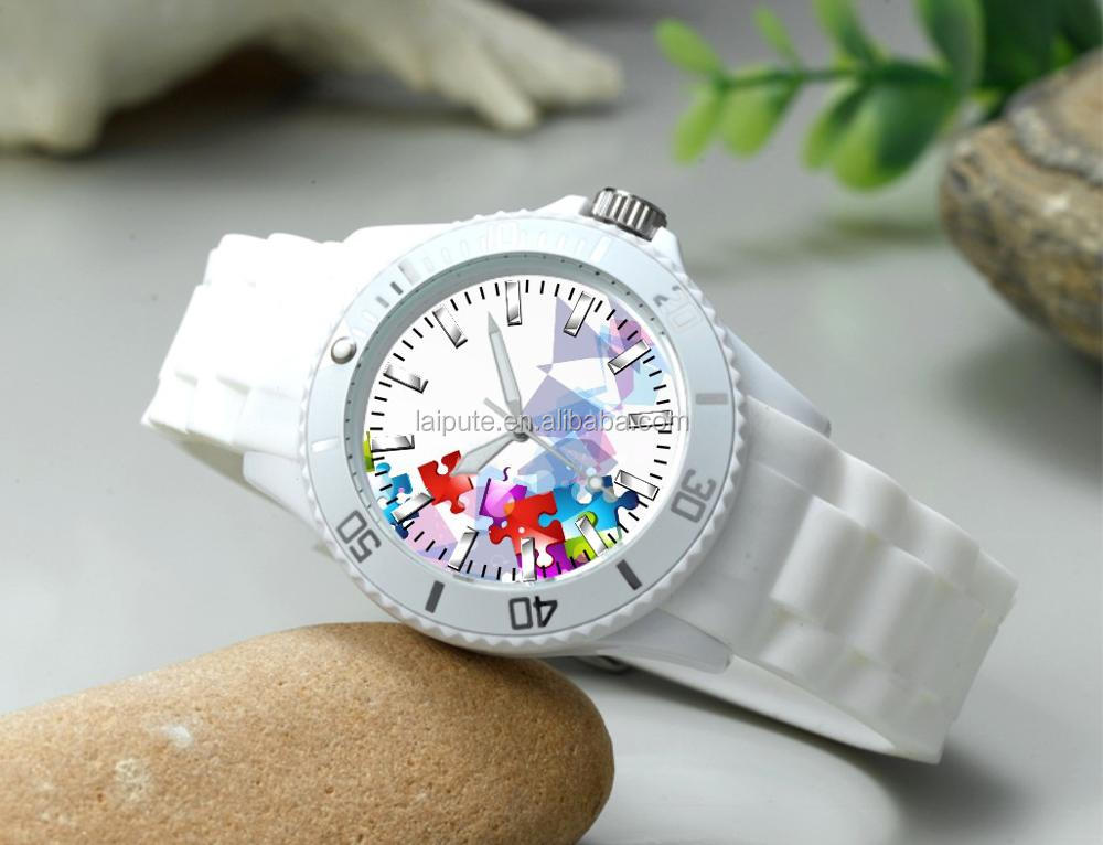 2018 china factory colorful plastic silicon watch relojes picture promotion gift sport black wristwatches CE ROHS