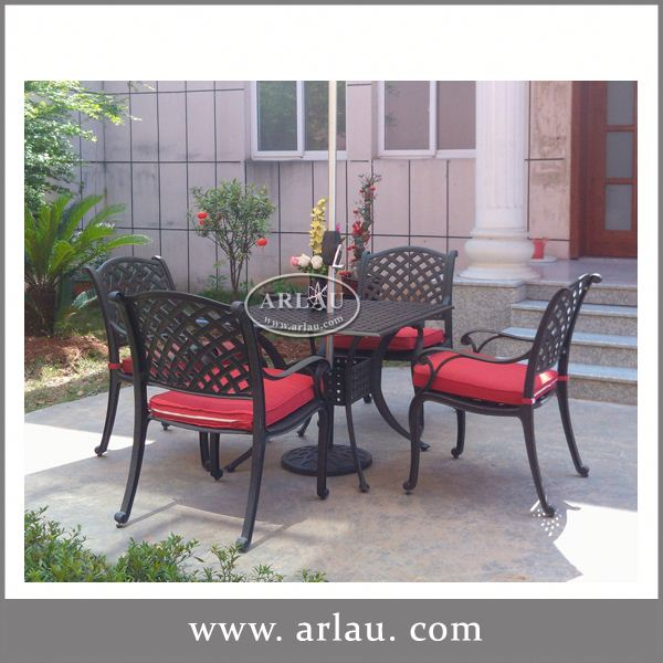 Arlau Coffee Table Furniture Unit,Black Patio Dining Sets,Wrought Iron Outdoor Table And Chairs