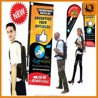 PVC Walking Billboard Advertising Backpack X Banner