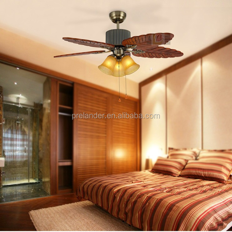 48inch ac fan 220v Decorative Remote Control Switch leaf blades Ceiling Light Fan