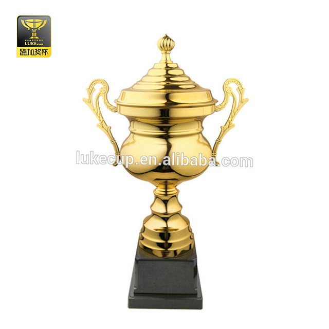 Gold plating high-end metal award trophy cheap cup trophies